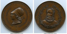 "Pedro II bronze ""Birth of Luiz de Camoes"" Commemorative Medal 1880 UNC, VC-154, Meili-105. 61mm. 85.82gm. Struck in 1880 by the Gabinete Portugues de ..."