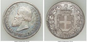 5-Piece Lot of Uncertified Assorted Medallic Mules, 1) Pedro II silver Mule with Kingdom of Italy reverse 1888 2) Pedro II 100 Reis Mule with Spain re...