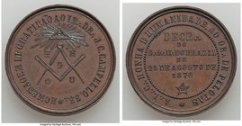 "6-Piece Lot of Uncertified Assorted Medals, 1) ""Masonry"" Medal 1876, Meili-147. 2) ""Instituto Historico e Geographico"" bronze Medal 1849, Meili-153. 3..."