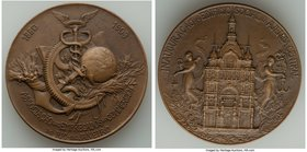 "Pair of Uncertified Rio de Janeiro Medals, 1) ""Inauguration of the New Trade Building"" silver Medal 1909, Rio de Janeiro mint. 2) ""Inauguration of the..."