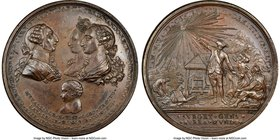 "Charles III bronze ""Birth of Prince Fernando"" Medal 1785 MS62 Brown NGC, Grove-K-82b, Fonrobert-6395. 62mm. From the Dresden Collection of Hispanic an..."