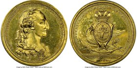 Charles IV gilt-bronze Proclamation Medal 1789 MS63 NGC, Grove-C-3B. 46mm. From the Dresden Collection of Hispanic and Brazilian Proclamation Medals  ...