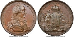 "Charles IV bronze ""Consulate of Mexico"" Proclamation Medal 1789 MS62 NGC, Grove-C-28a. 41mm. We note that this lot has a mechanical error on the slab ..."