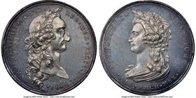 Charles IV silver Proclamation Medal 1789 MS62 NGC, Grove-C-20a. 39mm. From the Dresden Collection of Hispanic and Brazilian Proclamation Medals  HID0...