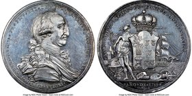Charles IV silver Proclamation Medal 1789 MS63 NGC, Grove-C-26a. 41mm. From the Dresden Collection of Hispanic and Brazilian Proclamation Medals  HID0...