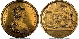 "Charles IV gilt-bronze ""Order of Maria Luisa"" Medal 1793 MS62 NGC, Grove-C-256a, Fonrobert-6427. 56mm. From the Dresden Collection of Hispanic and Bra..."