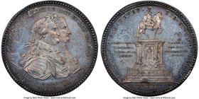 "Charles IV silver ""El Caballito"" Medal 1796 MS64 NGC, Grove-C-268. 33mm. From the Dresden Collection of Hispanic and Brazilian Proclamation Medals  HI..."