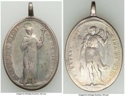 """St. Juan and St. Raphael"" silver Oval Medal 1806 About VF (Scratches), Lightly Toned. 26x34mm. 12.33gm. From the Dresden Collection of Hispanic and B..."
