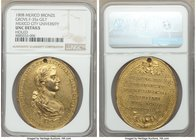 "Ferdinand VII gilt-bronze ""Mexico City University"" Proclamation Medal 1808 UNC Details (Holed) NGC, Grove-F-35a. 38mm. From the Dresden Collection of ..."