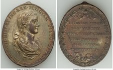 "Ferdinand VII gilt-bronze ""Mexico City University"" Proclamation Medal 1808 XF (Heavily Scratched, Integral Mount Removed), Heir-36, Grove-F-35a. 38x45..."