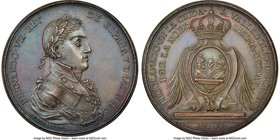 Ferdinand VII bronze Valladolid Proclamation Medal 1808 MS64 Brown NGC, Grove-F-195a. 43mm. From the Dresden Collection of Hispanic and Brazilian Proc...