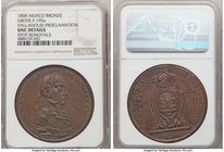 Ferdinand VII bronze Valladolid Proclamation Medal 1808 UNC Details (Spot Removals) NGC, Grove-F-195a. 43mm. From the Dresden Collection of Hispanic a...