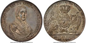 Ferdinand VII silver Mexico City Proclamation Medal 1808 MS63 NGC, Grove-F-5a. 43mm. From the Dresden Collection of Hispanic and Brazilian Proclamatio...