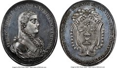 Ferdinand VII silver Puebla Proclamation Medal 1808 MS65 NGC, Grove-F-122a. 34mm. From the Dresden Collection of Hispanic and Brazilian Proclamation M...