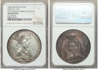 Ferdinand VII silver Valladolid Proclamation Medal 1808 AU Details (Cleaned) NGC, Grove-F-195. 42mm. From the Dresden Collection of Hispanic and Brazi...