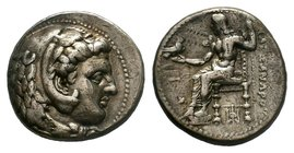 KINGS of MACEDON. Alexander III 'the Great'. 336-323 BC. AR Tetradrachm    Condition: Very Fine  Weight: 17.15 gr Diameter: 26 mm