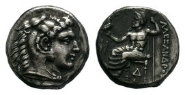 KINGS of MACEDON. Alexander III 'the Great'. 336-323 BC. AR    Condition: Very Fine  Weight: 4.09 gr Diameter: 17 mm