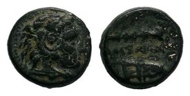 "Kings of Macedon. Alexander III ""the Great"" 336-323 BC. AE bronze   Condition: Very Fine  Weight: 1.41 gr Diameter: 11 mm"