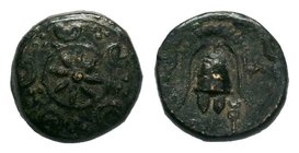 "Kings of Macedon. Macedonian mint. Alexander III ""the Great"" 336-323 BC. Bronze    Condition: Very Fine  Weight: 2.11 gr Diameter: 12 mm"