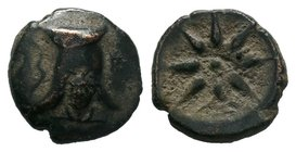 Pontos, Uncertain mint (Amisos?) Æ31. Time of Mithradates VI, circa 130-100 BC.   Condition: Very Fine  Weight: 4.58 gr Diameter: 18 mm