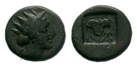 Islands off Caria. Rhodos circa 188-84 BC.    Condition: Very Fine  Weight: 1.61 gr  Diameter: 13 mm