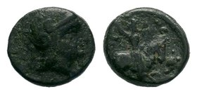 Greek coin, As Satrap, 323-306 B.C. AE   Condition: Very Fine  Weight: 1.02 gr Diameter: 10 mm