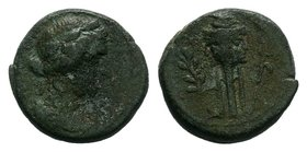 ASIA MINOR. Uncertain. Ae (Circa 2nd-1st centuries BC).   Condition: Very Fine  Weight: 2.58 gr Diameter: 13 mm