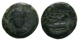 Seleukid Empire, Antiochos I Soter Æ23. Seleukia on the Tigris, 281-261 BC.    Condition: Very Fine  Weight: 4.06 gr Diameter: 17 mm