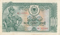 Albania, 100 Leke, 1949, XF, p26
