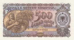 Albania, 500 Leke, 1957, UNC, p31a