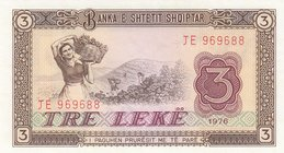 Albania, 3 Leke, 1976, UNC, p41