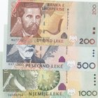 Albania, 200 Leke, 500 Leke and 1.000 Leke, 2011/2015, UNC, p71, p72, p73b, (Total 3 banknotes)
