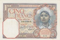Algeria, 5 Francs, 1941, AUNC, p77