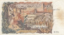 Algeria, 100 Dinars, 1970, VF, p128