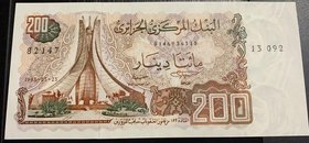 Algeria, 200 Dinars, 1983, UNC, p135a