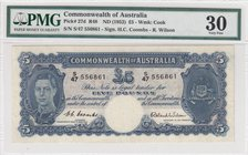 Australia, 5 Pounds, 1952, VF, p27d