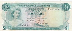 Bahamas, 1 Dollar, 1965, XF, p18b