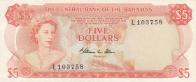 Bahamas, 5 Dollars, 1974, XF, p37b