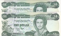 Bahamas, 1 Dollar (2), 1984, UNC, p43a, p43b, (Total 2 banknotes)