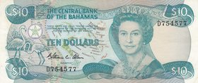 Bahamas, 10 Dollars, 1984, XF, p46a