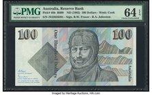 Australia Australia Reserve Bank 100 Dollars ND (1985) Pick 48b R609 PMG Choice Uncirculated 64 EPQ.   HID09801242017