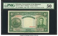 Bahamas Bahamas Government 4 Shillings 1936 Pick 9e PMG About Uncirculated 50.   HID09801242017