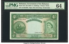 Bahamas Bahamas Government 4 Shillings ND (1953) Pick 13b PMG Choice Uncirculated 64.   HID09801242017