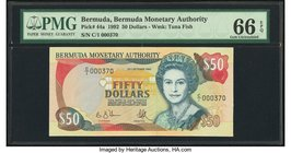 Bermuda Monetary Authority 50 Dollars 1992 Pick 44a PMG Gem Uncirculated 66 EPQ.   HID09801242017