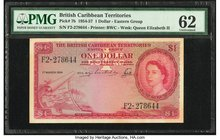 British Caribbean Territories Currency Board 1 Dollar 1.3.1954 Pick 7b PMG Uncirculated 62. Previously mounted; stains.  HID09801242017