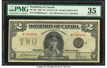 Canada Dominion of Canada $2 23.6.1923 DC-26f PMG Choice Very Fine 35.   HID09801242017