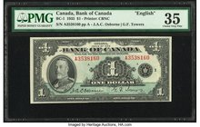 Canada Bank of Canada $1 1935 BC-1 PMG Choice Very Fine 35.   HID09801242017