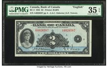Canada Bank of Canada $2 1935 BC-3 PMG Choice Very Fine 35 EPQ.   HID09801242017