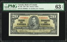 Canada Bank of Canada $20 2.1.1937 BC-25b PMG Choice Uncirculated 63 EPQ.   HID09801242017