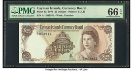 Cayman Islands Currency Board 25 Dollars 1974 Pick 8a PMG Gem Uncirculated 66 EPQ.   HID09801242017
